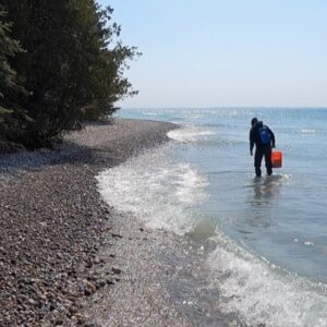 Chuck and Rob Find Some Lake Huron Rocks