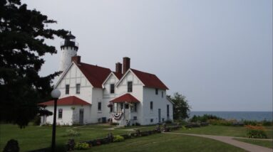 Point Iroquois Lighthouse Rock Hunting