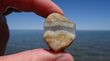 We Found a Few Rocks at Huron Shores Roadside Park near Cheboygan