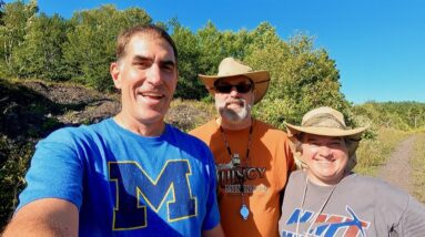 Exploring Keweenaw Mines with a Couple of Geologists
