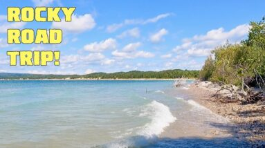 Looking for Petoskey Stones in Petoskey, Michigan