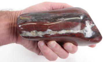 Polishing a Big Chunk of Minnesota Jasper
